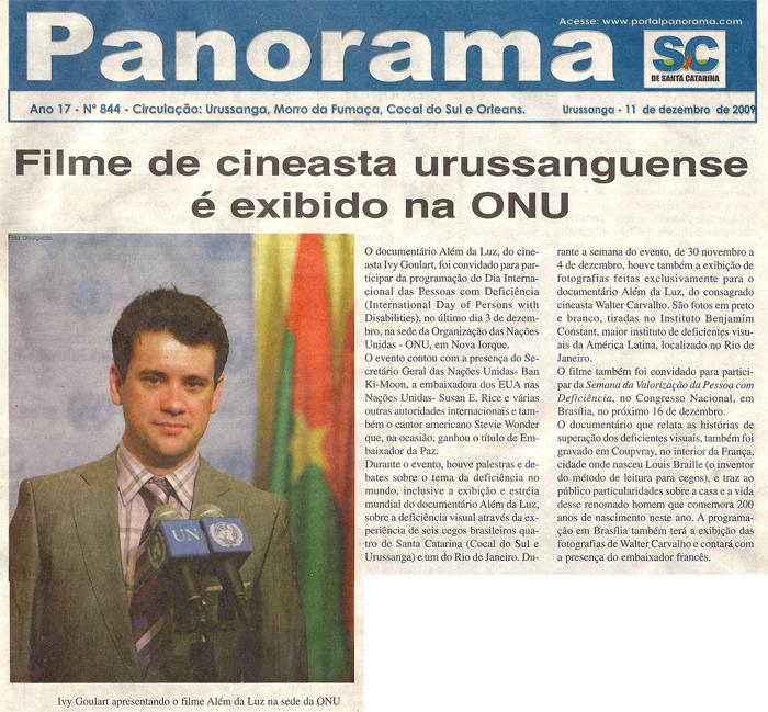 Jornal Panorama: Film by Brazilian filmmaker screens at the UN