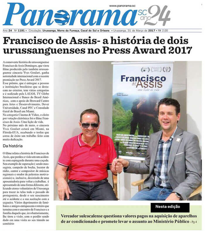 Jornal Panorama: Francisco de Assis – the story of two Brazilians in the Press Awards 2017