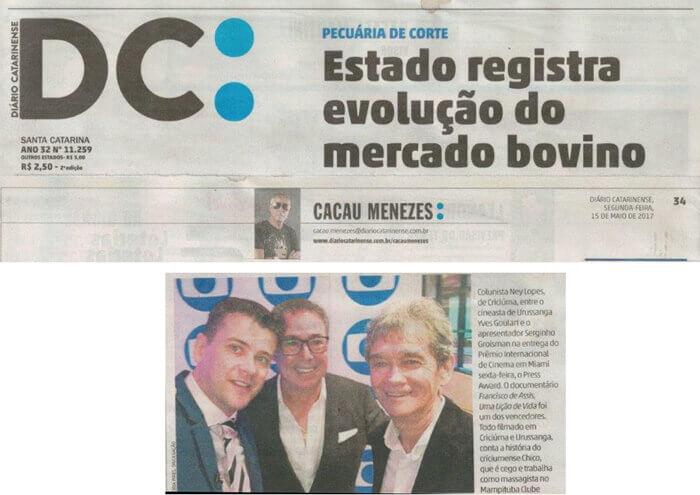 Diário Catarinense: Column of Cacau Menezes