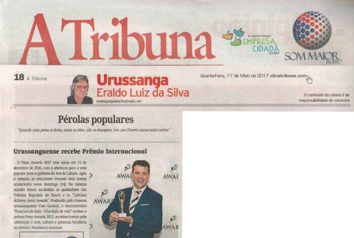 A Tribuna: Brazilian filmmaker receives international award
