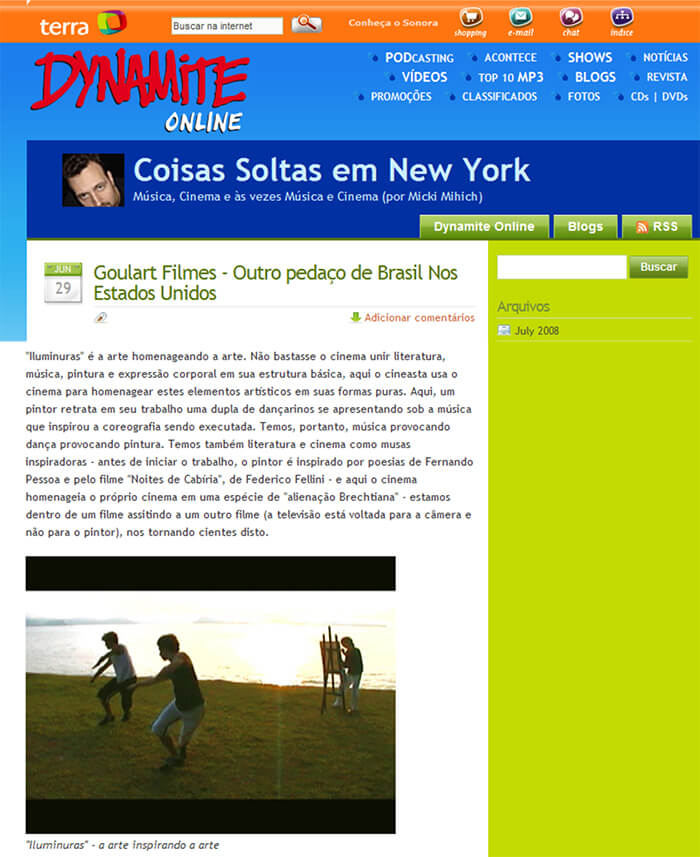 Dynamite Online: Goulart Filmes - Another piece of Brazil in the United States