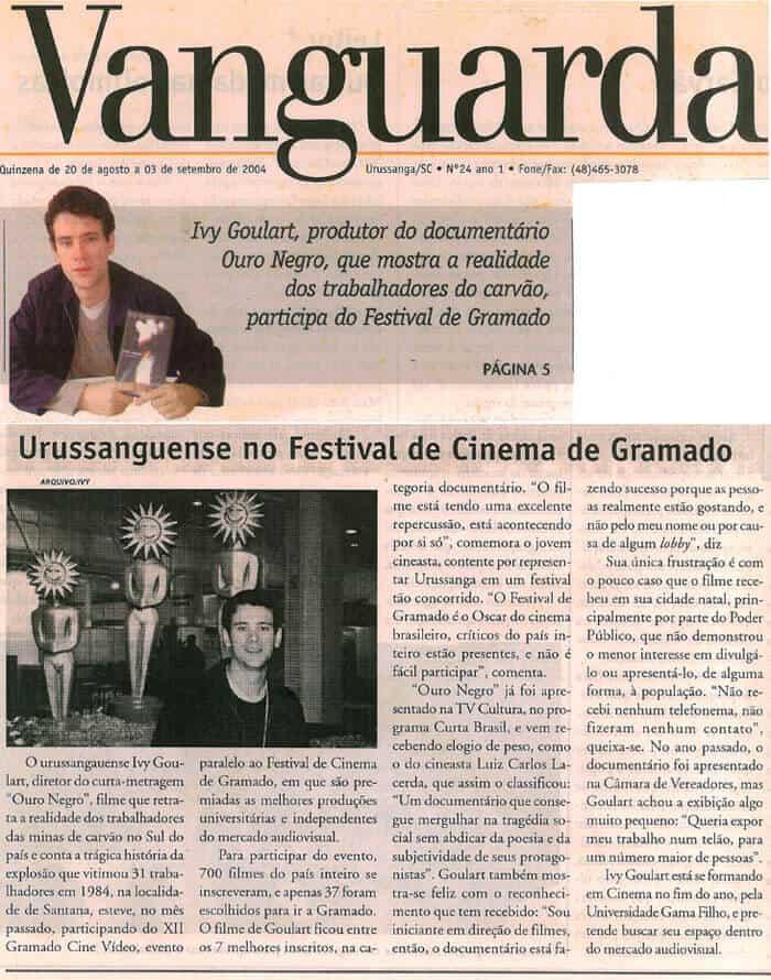 Jornal Vanguarda: Brazilian at the Gramado Film Festival