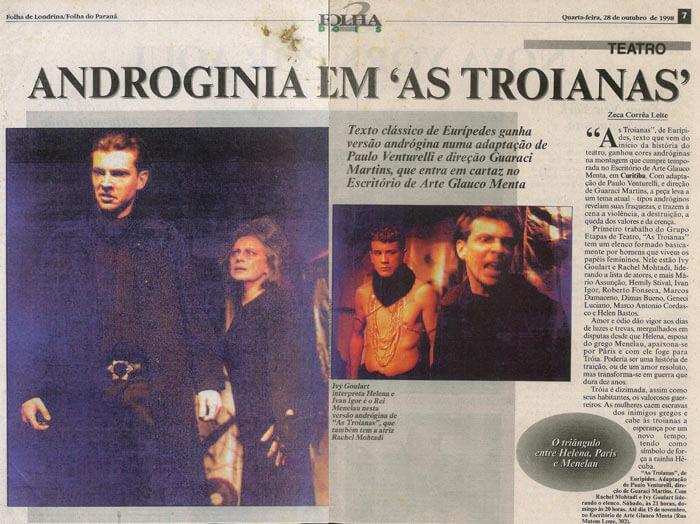 Folha de Londrina: Androgyny in The Trojans