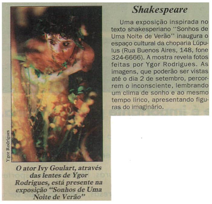 Folha do Paraná: Shakespeare