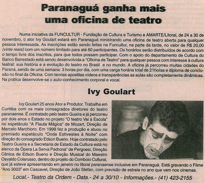 Novo Olhar: Paranaguá gets one more theater workshop