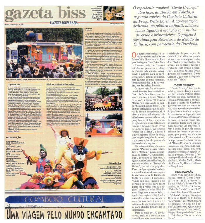 Gazeta do Paraná: A trip through the enchanted world