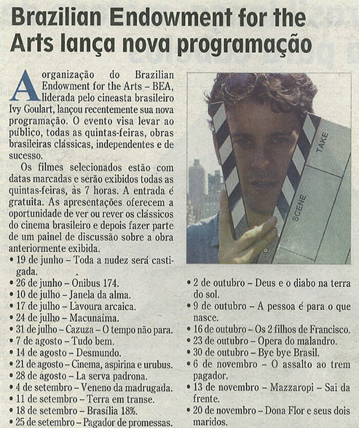 Brazilian Voice: Brazilian Endowment for the Arts releases new program