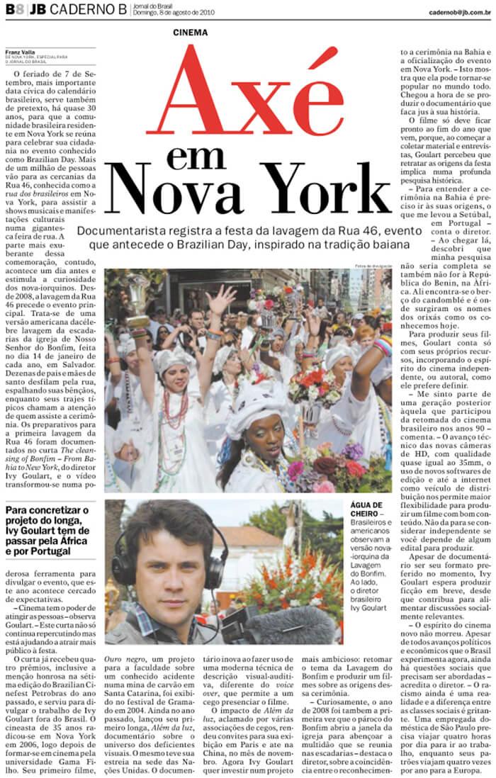 Jornal do Brasil: Axé in New York