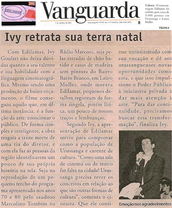 Jornal Vanguarda: Yves Portrays his Native Land